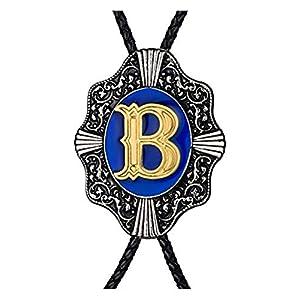 Aalphabet Letter Western Bolo string tie Initial Letters A/B/J/M/R/P Bolo tie for Men Women Kids