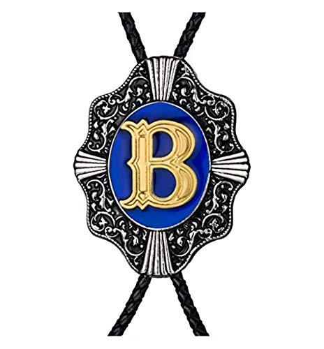 Aalphabet Letter Western Bolo string tie Initial Letters A/B/J/M/R/P Bolo tie for Men Women Kids -