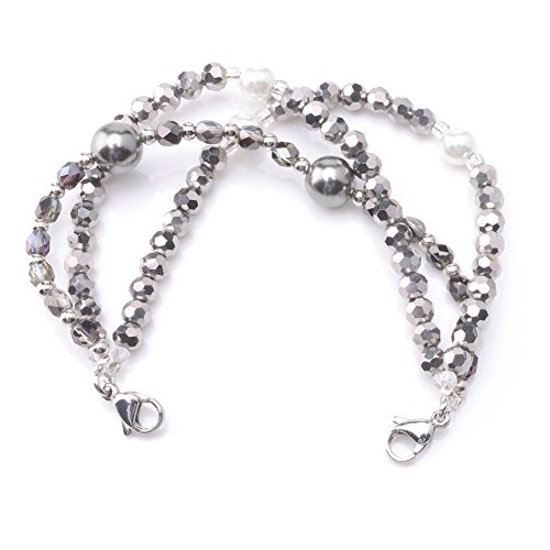 (Medical ID Triple Strand Beaded Interchangeable Bracelet)