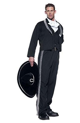 OvedcRay Adult Mariachi Spanish Mexican Hispanic Fiesta Costume W/ Sombrero Cinco De Mayo