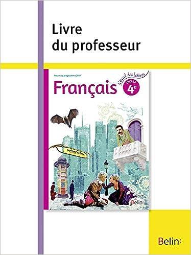 Francais 4e Livre Du Professeur Amazon Fr Florence