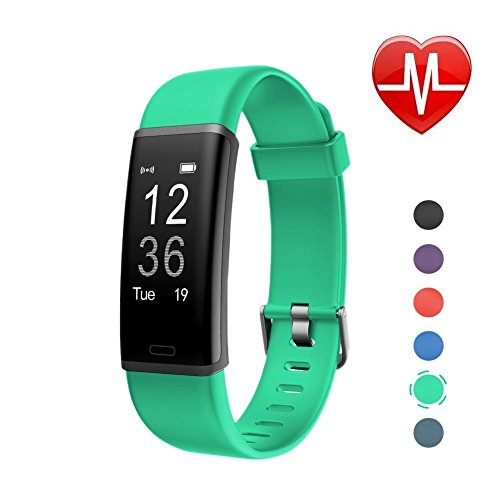 LETSCOM Fitness Tracker, Heart Rate Monitor Bluetooth Activity Tracker Watch with Sleep Monitor, Step Counter, Calorie Counter, Waterproof Pedometer Watch for Kids Women and - Brittany Records