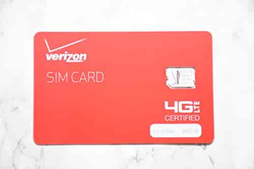 Verizon Wireless prepaid activation kit with $40 plan universal nano size SIM card.