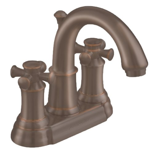 American Standard 7420.221.224 Portsmouth Centerset Lavatory Faucet with Speed Connect Drain with Cross Handles, Crescent Spout, Oil Rubbed Bronze