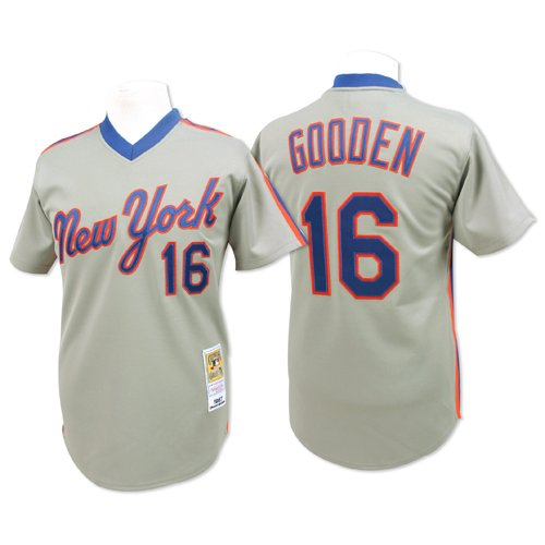 finest selection 5004b 2cd7f Amazon.com : New York Mets Authentic 1987 Dwight Gooden Road ...