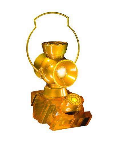DC Direct Blackest Night: Yellow Lantern 1:4 Scale Power Battery and Ring Prop Replica (Black Lantern Ring Light Up)