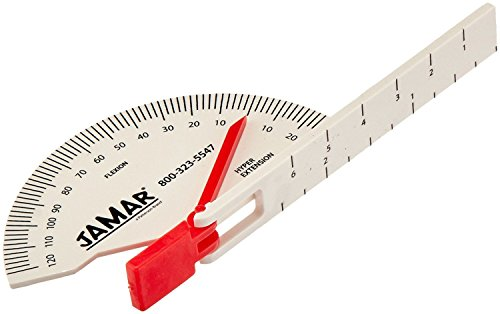 (Jamar Loose Hinge Finger/Toe Goniometer, Accurate Motor Joint Movement Measuring Tool with Visible Markings, Physical Therapy Evaluation Equipment, Easy to Use Medical Protractor, Red)