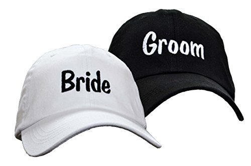 Bride Groom Embroidered Wedding Caps Hat -