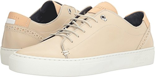 Ted Baker Men's Kiing Fashion Sneaker, Cream, 10 M US (Leather Ted Sneakers)