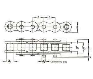Métricas rodillo cadena parte no: a-rc35m