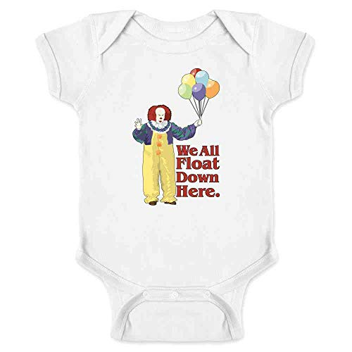 Pop Threads Clown Float Down Here Minimalist White 12M Infant Bodysuit