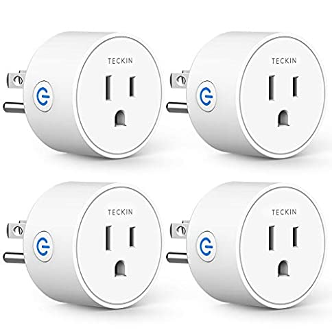 Smart Plug Works with Alexa Google Assistant IFTTT for Voice Control, Teckin Mini Smart Outlet Wifi Socket with Timer Function, No Hub Required, White FCC ETL Certified - 41Qtx6GKLHL - Smart Plug Works with Alexa Google Assistant IFTTT for Voice Control, Teckin Mini Smart Outlet Wifi Socket with Timer Function, No Hub Required, White FCC ETL Certified