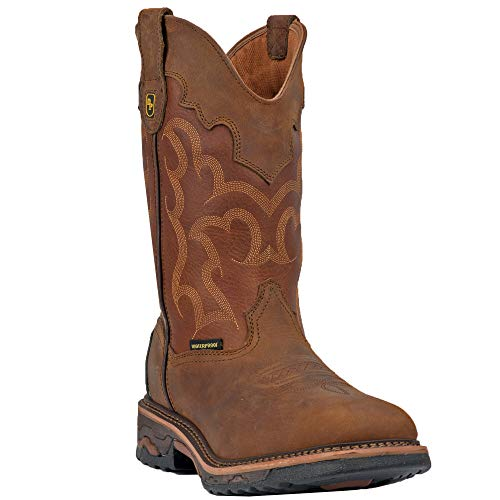 Cowboy Boots Leather Broad Square Toe 9.5 M ()