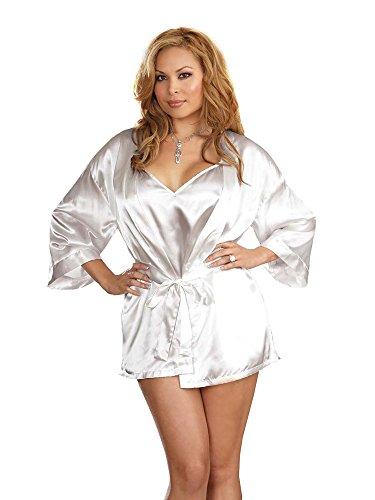 Plus Size Lingerie Sexy Charmeuse Satin Robe Set 16/18