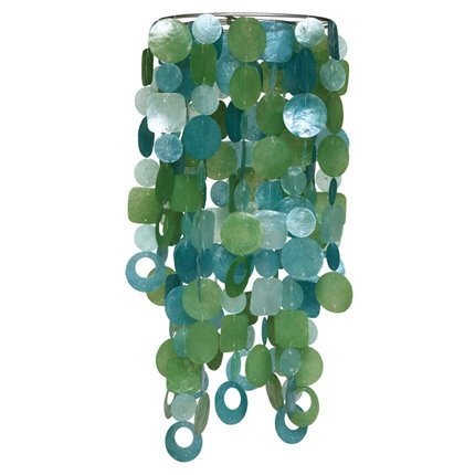 Connected Fair Trade Products Handcrafted Capiz Chandelier Light Shade - Tide Pool (Capiz Pendant Small)