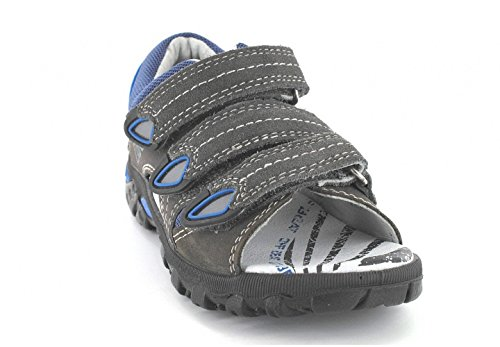 Bartek Boys Leather Sandals Arch and Ankle Support Grey Blue 26106 Little Kid//Big Kid