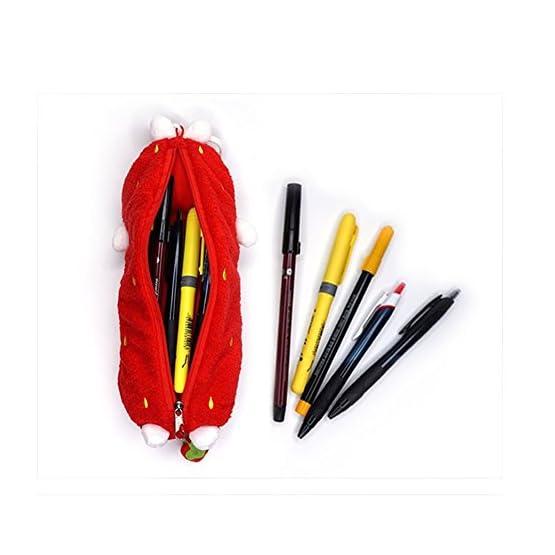 Molang – Strawberry | 10 Inch | Kawaii Pencil Case 4