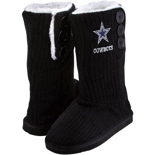 Dallas Cowboys Boots For Womens - Dallas Cowboys Knit High End Button