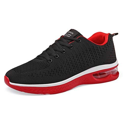 Ginnastica Running Basse Sport Respirabile Sneakers Scarpe Uomo Outdoor Basket Da Axcone Donna Fitness Rosso1 Sportive 8wI0pnqx
