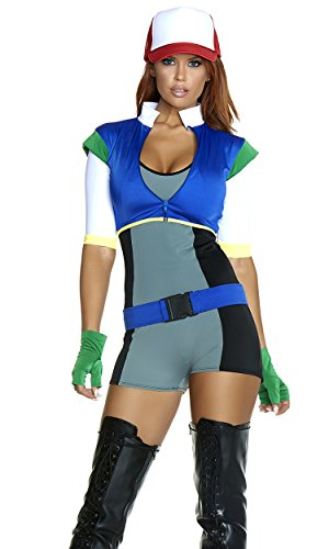 Forplay Women's On The Hunt Sexy Cartoon Character Costume, Gray, S/M ()