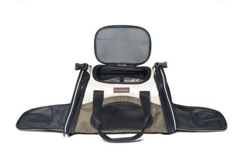 One for Pets The One Bag Expandable Pet Carrier, Large, Navy - Car & Luggage Fixture Included by One for Pets (Image #4)