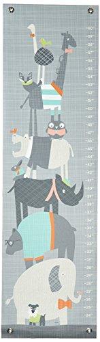 Oopsy Daisy Happy Animal Herd Growth Chart, Gray/Aqua/Green/Orange, 12