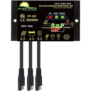Amazon.com: ZEALLIFE Controlador de carga de paneles solares ...