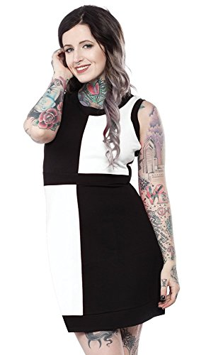 (Sourpuss Mini Mod Dress Black & White L)