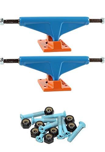 Venture Trucks ミッドタウン ブルー/オレンジ スケートボードトラック 1インチの取付金具付き   B07NWHQSYW
