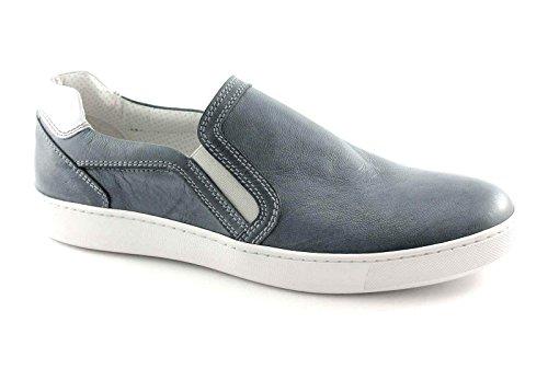 Nero Giardini 4112 Jeans Scarpe Uomo Sneaker Sportive Slip On Blu