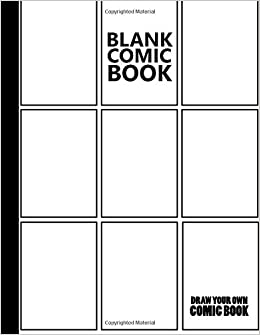 blank comic book multi template edition draw create your own