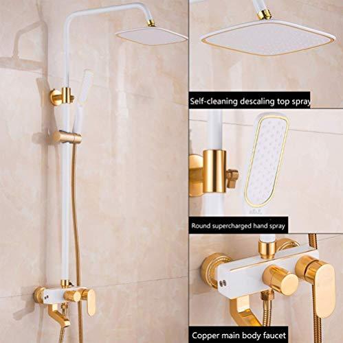 XLST Modern Thermostatic Shower Set with Rain Shower Head & Handheld Shower -