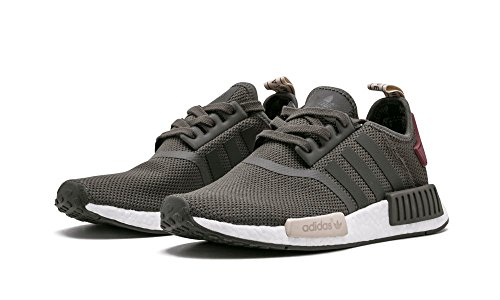 NMD R1 W Ladies in Utility Green/Maroon by Adidas, 7