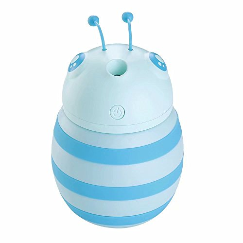 Lausweet 300ML Mini USB Portable Little Bee Air Humidifier for Bedroom Office Desk Travel Car-Color Night Lights Waterless Auto Shut-off by Lausweet