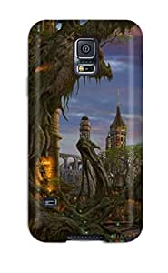 Awesome Case Cover/galaxy S5 Defender Case Cover(building Fantasy City Castle Abstract Fantasy)