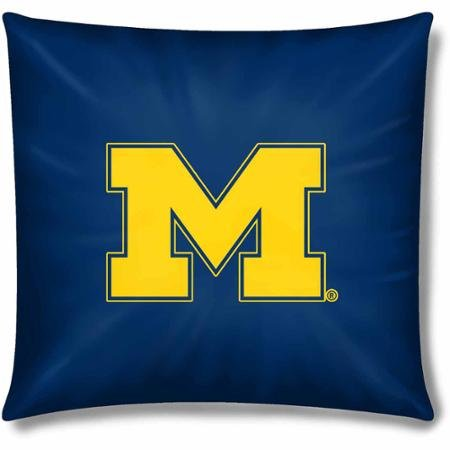 NCAA Michigan Wolverines Official 15'' Toss Pillow, Set of 2 by Northwest