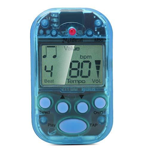 Mini Metronome, LCD Digital M50 Metronome Portable Clip-On Beat Tempo Metronome for Piano, Violin, Guitar, Trap Drum(Blue)