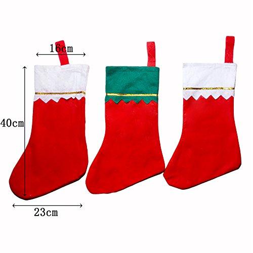 pygex (TM)–Spessa calza di Natale Babbo Natale Pupazzo Di Neve Cervo Regalo di natale Candy Bag Indoor Xmas Decor Sock sconto