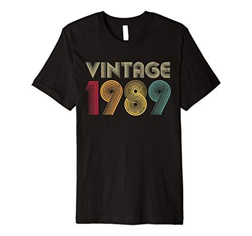 30th Birthday Gift Classic 1989 Vintage Men Women 30 Years Premium T-Shirt