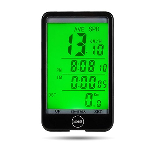 Price comparison product image Waterproof Multi Function Touch Screen Bike Cycling Computer Cyclocomputer Speedometer Odometer with LCD Backlight for Outdoor Sports Riding Cycling Mountain Bike Folding Bicycle Road Vehicles MTB
