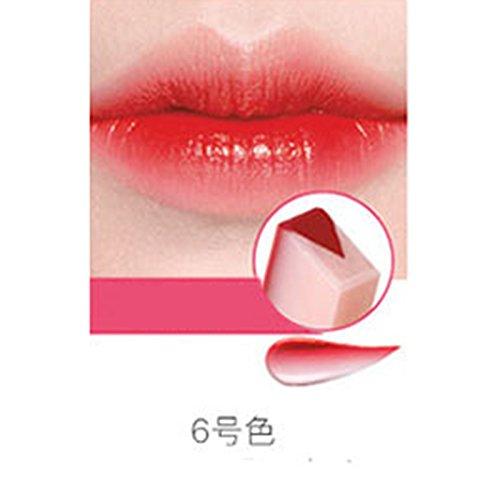 (LanLan Lipsticks Matt Lipstick,Women New Fashion Gradient Color Matt Lipstick Pencils Beauty Makeup Fruit Smell Two-tone Tint Lip Bar 06# Tomato Cheese)