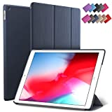 iPad Mini 5 case, ROARTZ Metallic Navy Blue Slim Fit Smart Rubber Coated Folio Case Hard Cover Light-Weight Wake/Sleep for Apple iPad Mini 5th Generation 2019 Model A2133 A2124 A2126 7.9-inch Display