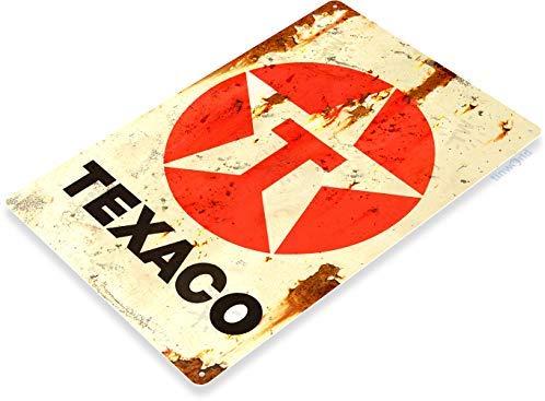 VINTAGE STYLE METAL SIGN Texaco Batteries 20 x 5
