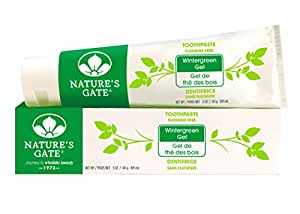 Nature's Gate Natural Toothpaste without Fluoride, Wintergreen Gel, 5 oz (141 g) (Pack of 4)