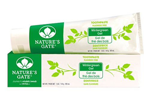 Nature's Gate Natural Toothpaste without Fluoride, Wintergreen Gel, 5 Ounce (Pack of 4)