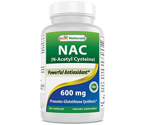 Best Naturals NAC N-Acetyl-Cysteine 600 mg 250 Capsules
