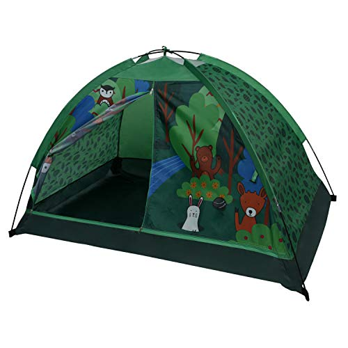 OzarkTrail Durable Polyester with Fiberglass Poles Stylish Kids Design Indoor Camping Tent (Critters ()
