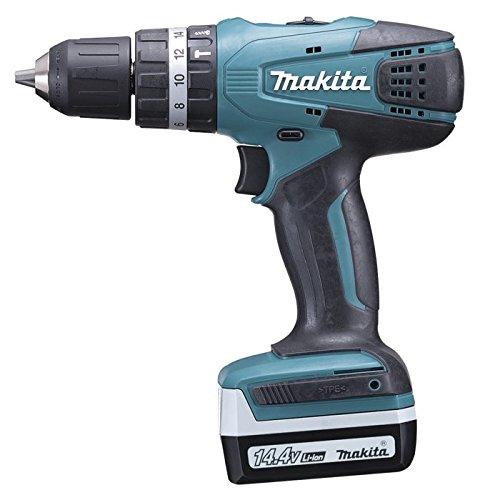 Makita HP347DWE 14.4 V Cordless Hammer Drill Driver – Blue/Black