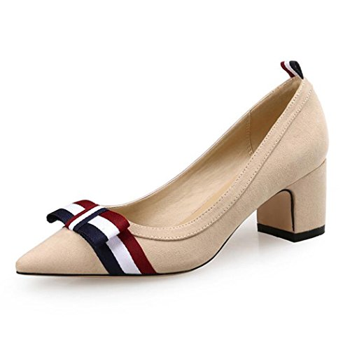 work ZZZJR Ladies nozze Fit Mid Scarpe Work Jane evening Heelplatform comode party Heels Kitten Mary Womens Office Court Classic Shoes Flexi Work party Casual prom Nudo Low Evening BUxBqzr