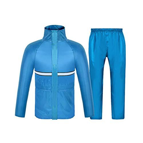 lumière bleu Medium Llsdls Costume imperméable Hommes et Femmes Adulte Double épaisseur Imperméable Split Imperméable Alpinisme Imperméable Coupe-Vent Décontracté Zipper Set (Couleur   rouge, Taille   XL)
